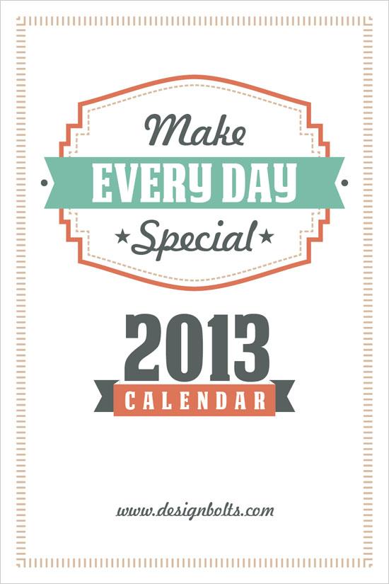 2013 calendar 4 #thingsdeeloves