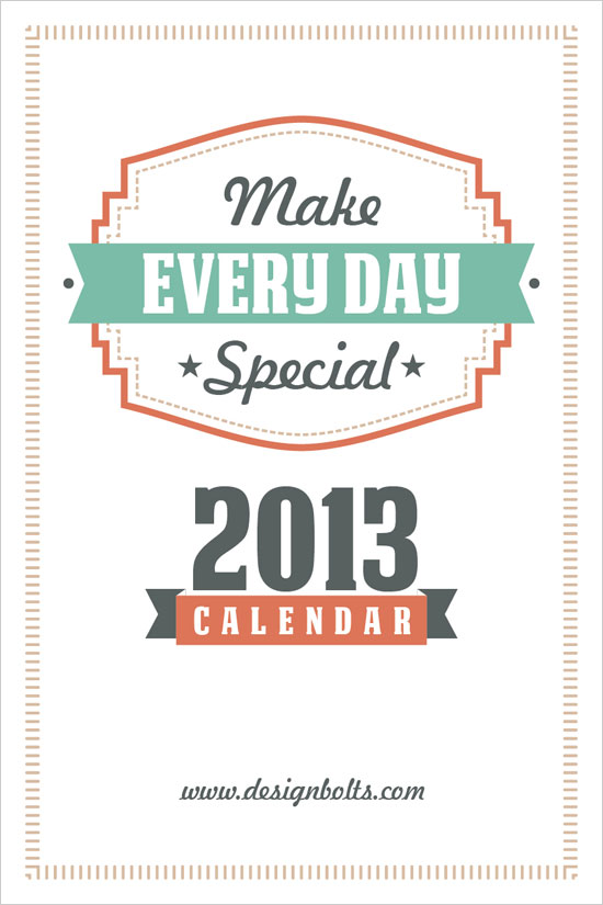 2013 calendar 4 #thingsdeeloves