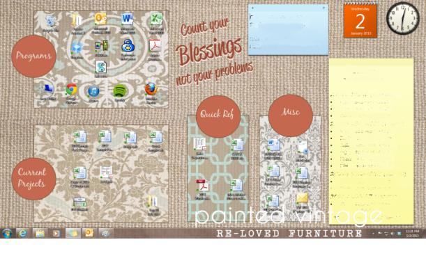 loving an organised desktop #thingsdeeloves 1
