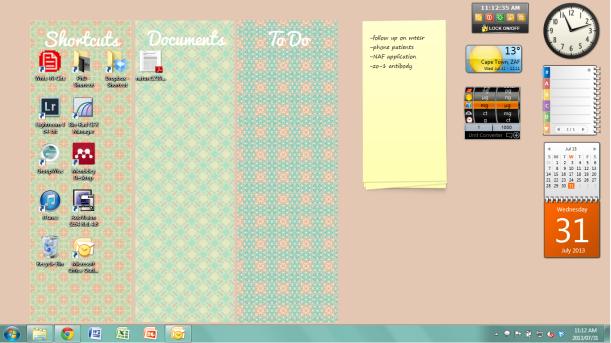 loving an organised desktop #thingsdeeloves 7