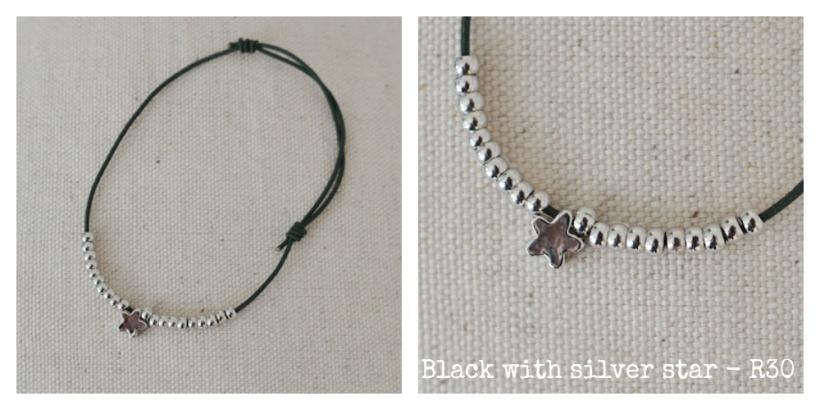 black with silver star