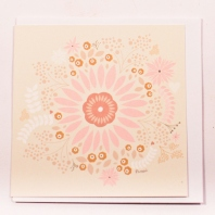 Cream-Gifting-Card-With-Pink-Orange-White-Flower-And-Leaf-Pictures1