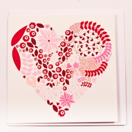 White-Gift-Card-With-Red-Pink-And-Brown-Flower-And-Leaf-Pictured-Heart1